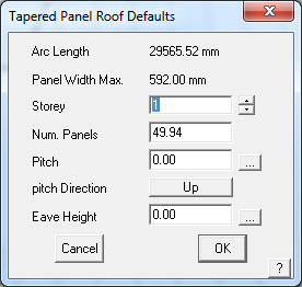 This image shows tapered panel in AppliCad Roof Wizard https://www.applicad.com