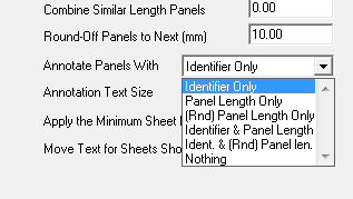 This image shows Tally Panel Options in AppliCad Roof Wizard htps://www.applicad.com