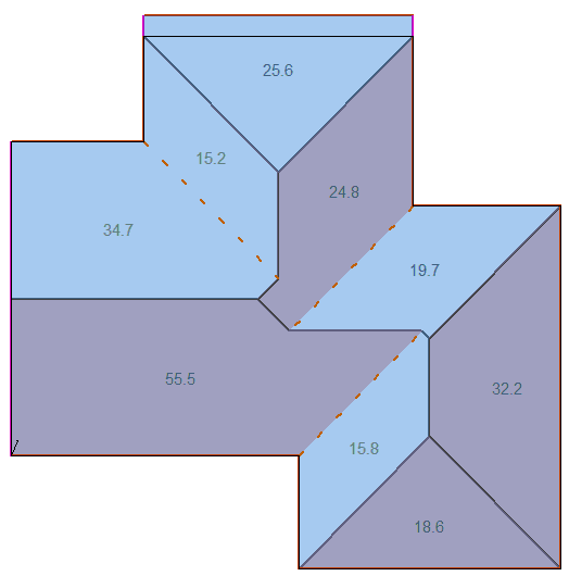 This image shows the Roof/Wall Plane Areas function in AppliCad Roof Wizard https://www.applicad.com