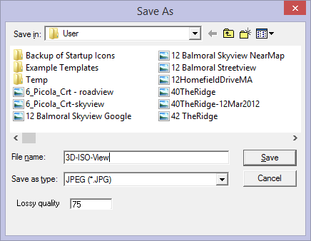 this image shows the save as menu in AppliCad Roof Wizard https://www.applicad.com